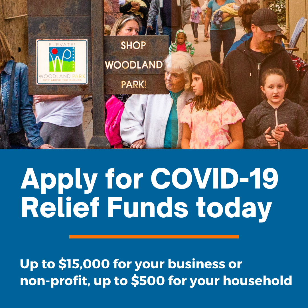 "Infographic that says ""apply for covid-19 relief funds today"""