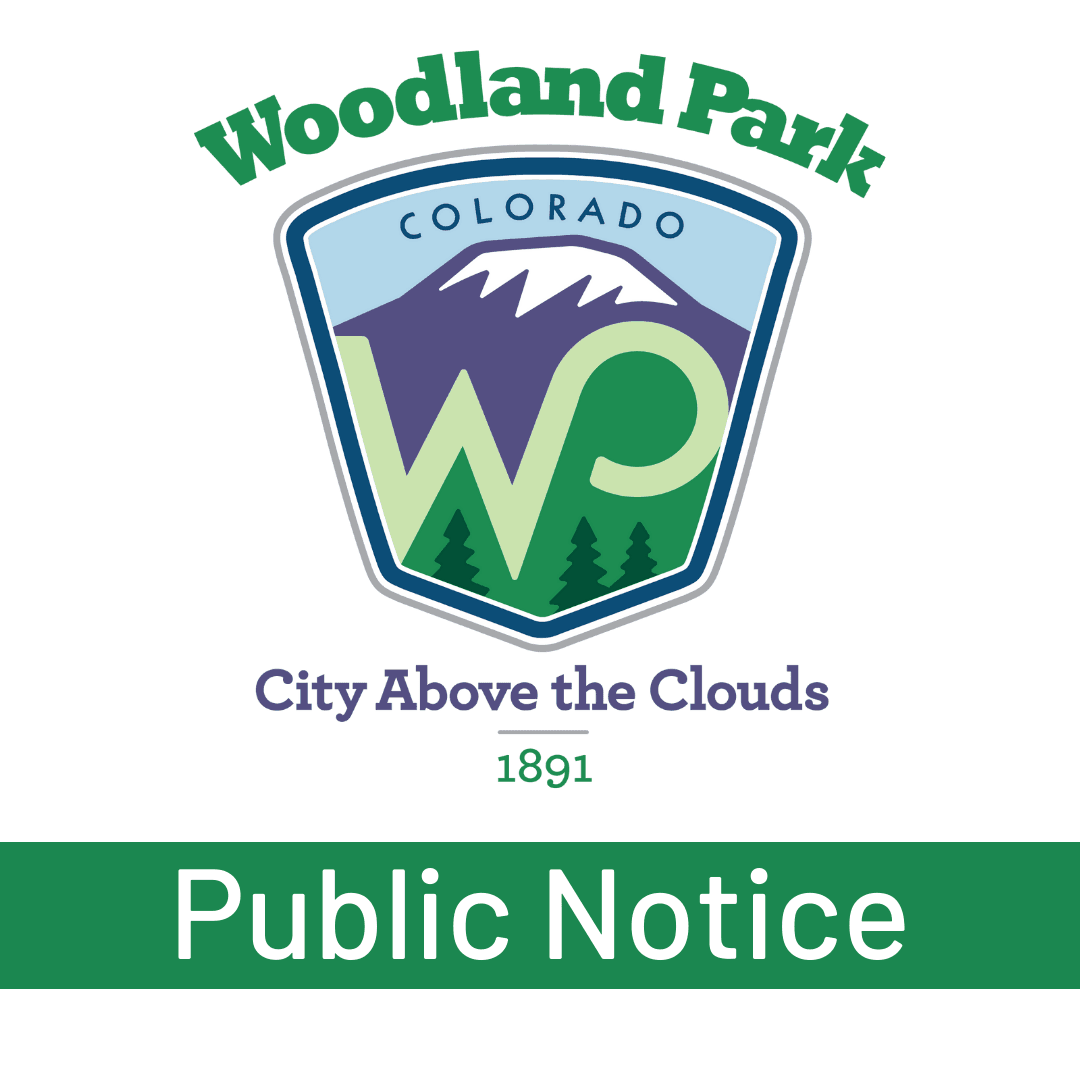 City of Woodland Park Public Notice Graphic