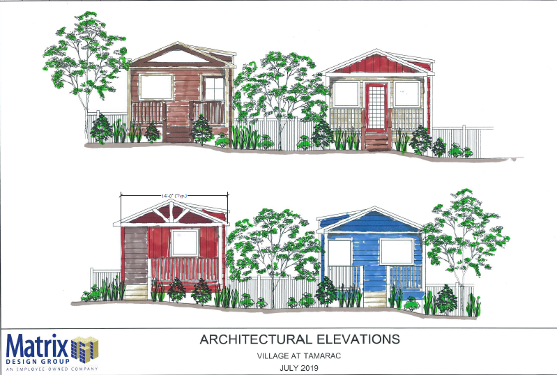 Village at Tamarac Architectural Elevations Drawing